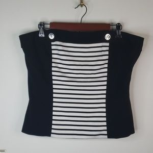 WHBM Strapless Top Size L